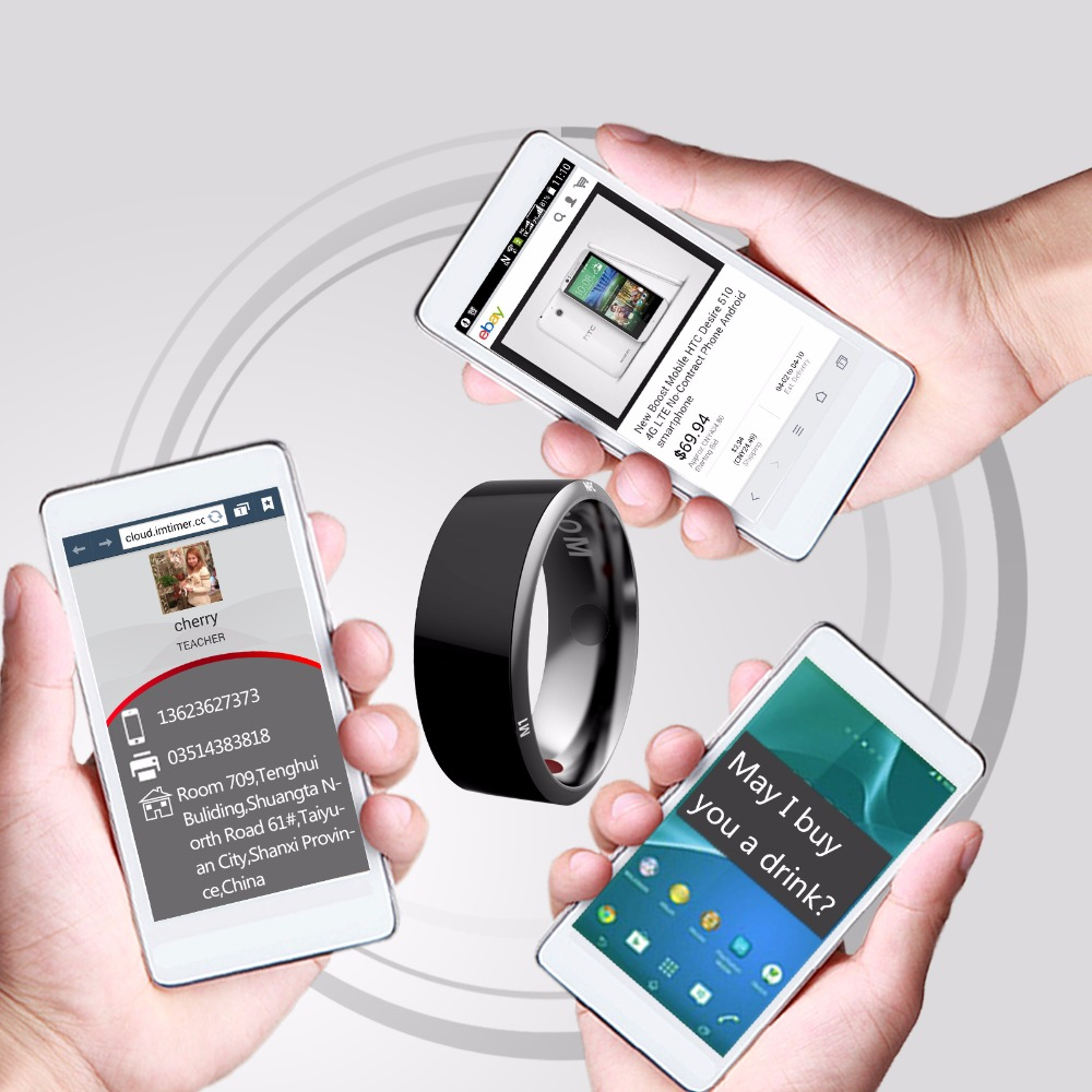 Alotm R3 Smart Ring Waterproof Dust-Proof Fall-Proof for NFC Electronics Mobile Phone Android Smartphone Wearable Magic App Enabled Rings Intelligent Devices Size 12