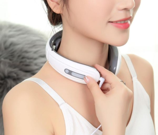 Bisd Electric Neck and Shoulder Massager Timing Control Rechargeable 6 Kinds Model Pain Relief Tool Health Care Relaxation