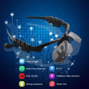 Dropship High End Smart Sunglasses Bluetooth Bone Conduction Wireless Headset Microphone Glasses