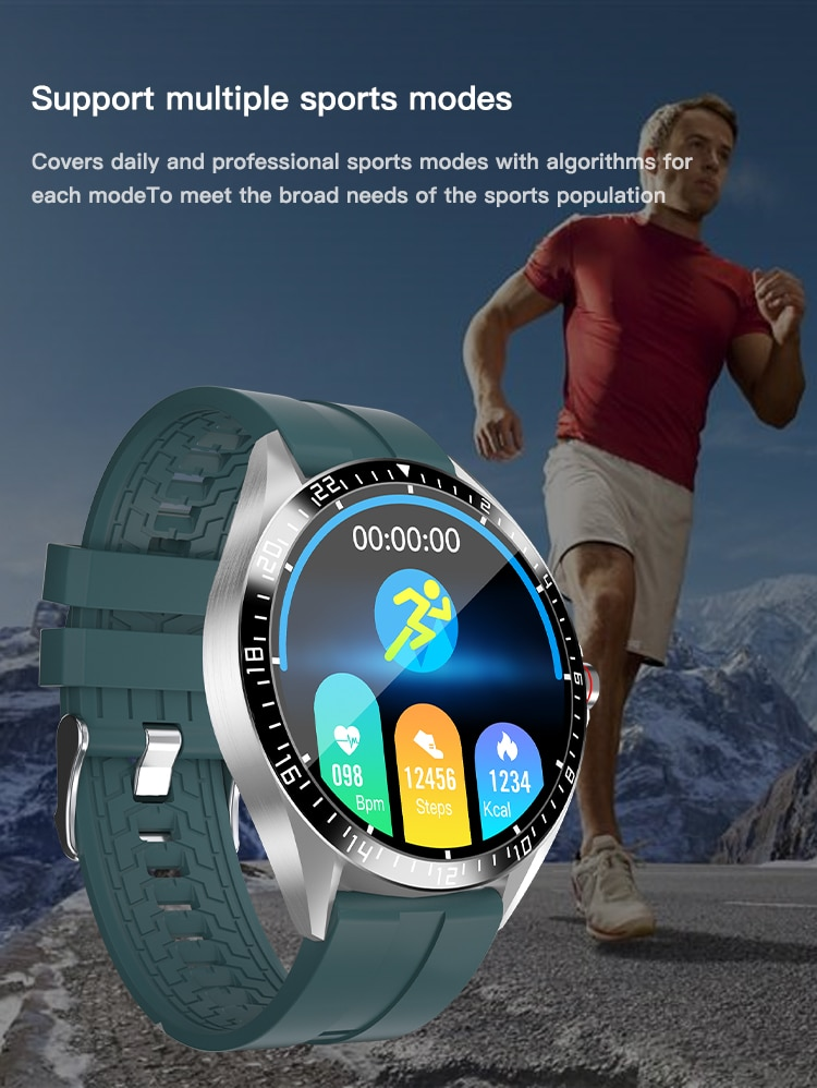Body Temperature Smart Watch GW16 Smartwatch Heart Rate Monitor Blood Pressure Oxygen Health Multi-sports Mode Wearable Device