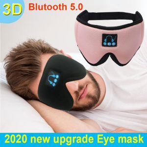 2020 manufacturers new wireless Bluetooth v5.0 headset call music sleep artifact breathable sleep eye mask headphone
