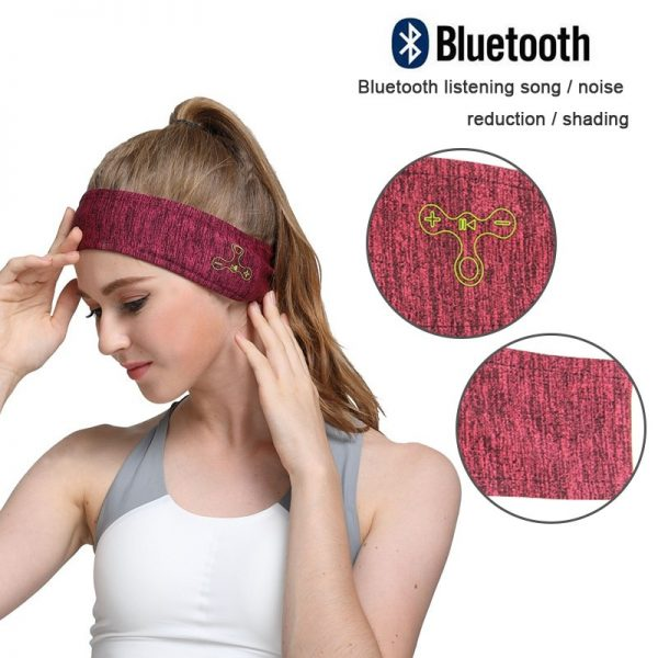 Wireless Bluetooth 5.0 Music Headband Stereo Headwear Headphone Running Earphone Sleep Headset Sports Sleeping Music Headbands