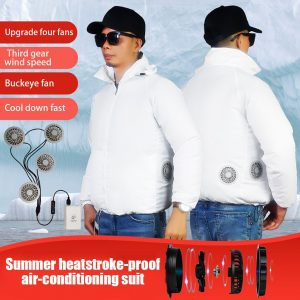 Summer Fan Cooling Jackets Men Women Air Conditioning Cool Coat Outdoor Sun Protection Jacket USB Charing Outdoor Clothes Z0618