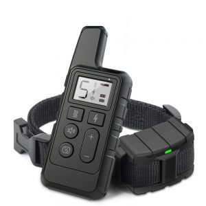 2020 Dog Training Collar Pet Waterproof Rechargeable Shock sound Vibration Anti-Bark 500m Remote Control for multiple Size dog