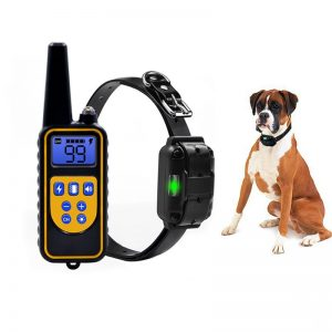 Certification Dog Trainer Waterproof Rechargeable LCD Display Electric Dog Training Collar With Remote Control Pet Supply