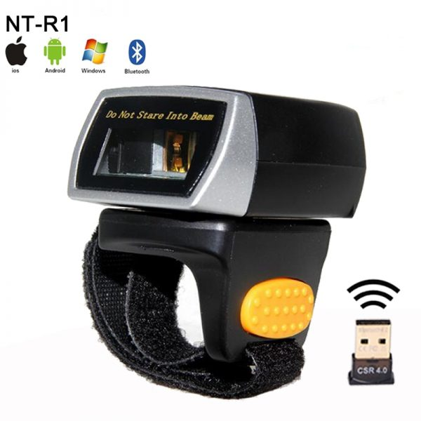 New weirless laser barcode Reader Portable Wearable Ring Barcode Scanner 1D Reader Mini Bluetooth Scanner for Window/Android/IOS