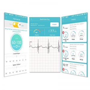 Portable Mini wearable ECG Monitor Measurement Machine Real-time heart Support Electrode Holter For Android or IOS Health care