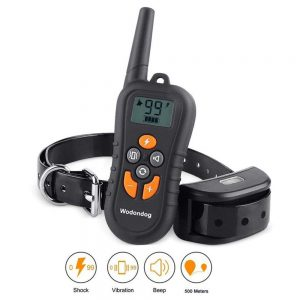 Dog Training Collar Electric Shock Vibration Waterproof rechargeable 500m Remote Training Collar Bark Dog Collar dog accessories