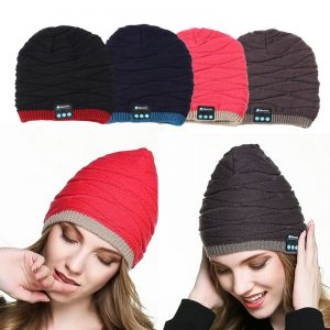 Bluetooth Headphone Music Hat Headset Earphone Mic Built-in Stereo Speakers Winter Warm Hat for Travelling Christmas Gifts