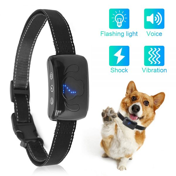 Upgrade Dog anti bark collar Automatic vibration shock IP67 safe for small big dogs no barking training collars dog product