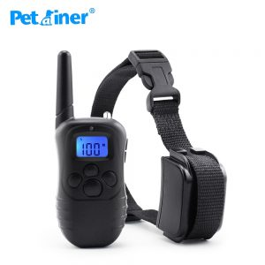Petrainer 998DR-1 Rechargeable And Waterproof 300M Remote Vibration Shock Electronic 100Level Dog Electric Collars