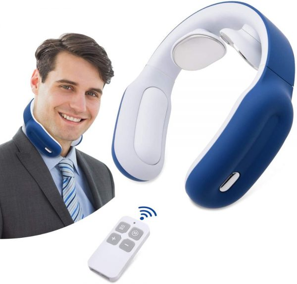 Smart Electric Neck and Shoulder Massager Low Frequency Magnetic Therapy Pulse Pain Relief Tool Health Care Relaxation