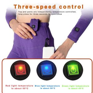 Intelligent Usb Electric Heating Underwear Suit Warm Electric Clothes Winter Men Women Ski Climbing Shirts and Pants Activewear