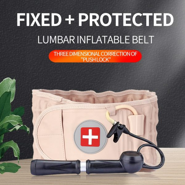 Lumbar Back Belt Support Traction Air Decompression Pain Relieve Inflatable Massager Waist Protect
