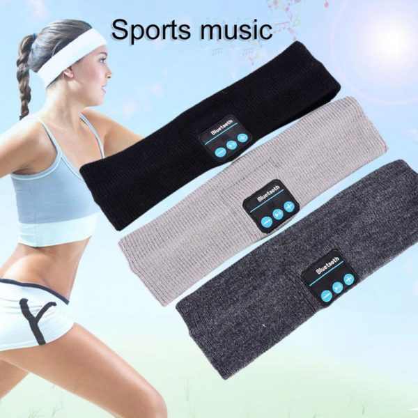 Wireless Bluetooth Phone Music Breathable Elastic Band Yoga for Sweat Sports Headband Headset