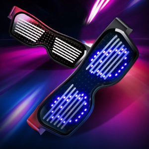 Magic Flash Led Party Glasses App Bluetooth Control Shield Luminous Glasses USB Charge DJ Sun Glasses DIY Concert Light Toys