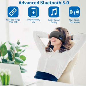 Sleep Headphones Sleep Eye Mask Bluetooth Wireless Sleep Headband Super Soft Washable Wireless Music Travel Helper