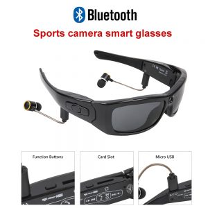 Sports Smart Glasses Camera HD1080P Camera Sunglasses Driving recorder Smart Mini Camera Glasses Multifunctional Bluetooth MP3