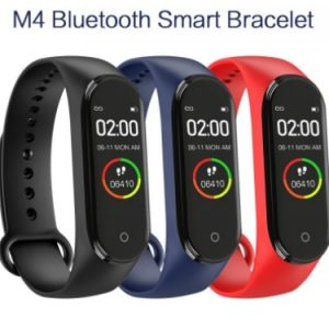 M4 Smart Watch Blood Pressure Fitness Tracker Bracelet Heart Rate Strap Smart Bracelet Strap Pedometer Sports Bracelet Hotsell