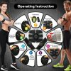 Ems Muscle abs Stimulator Abdominal Hip Trainer electric vibrate massager Weight Loss relaxation Body Slimming Belt Unisex