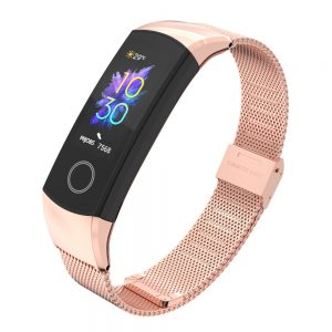 Wrist Strap For Huawei Honor Band 4/5 Strap Smart Wristband Milanese Metal Bracelet Band For honor band 4 Correa