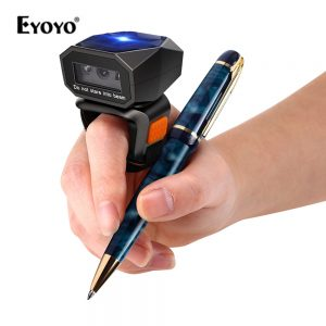 Eyoyo EY-016 Mini Portable 2D Wearable Ring Barcode QR code readers USB Wired 2.4G Wireless Bluetooth finger Scanner iPad iPhone