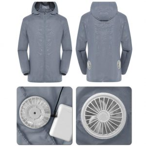 Smart 3-speed Cooling USB Air Conditioning Suit With Fan UV Protection Wear Splash-proof Fishing Suit Summer Cooling Clothes Set
