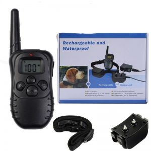 300m Remote Rechargeable And Waterproof Electronic Dog Training Collar With LCD Display for Pet Dog Stop Barking Collars 998DR