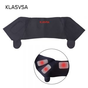 KLASVSA Magnetic Tourmaline Belt Back Neck Lumbar Shoulder Self-heating Therapy Posture Correcter Brace Health Care Pain Relief