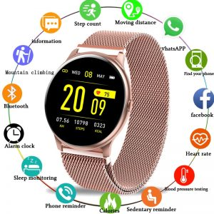 LIGE Smart Watch Women Blood Pressure Heart Rate Monitor Fitness tracker Sport Smart Band Alarm clock reminder Smart wristbands
