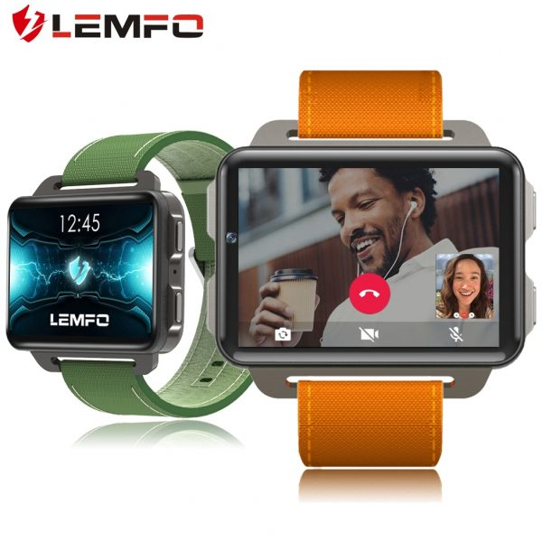 LEMFO lem4pro Android Smart Watch Phone 1GB 16GB 1200 Mah Battery 130W Camera GPS WiFi SIM Card MP4 3G Smartwatch